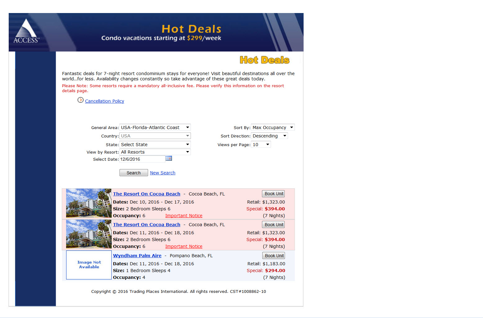 Hot Resort Deals - Alternative to Time share